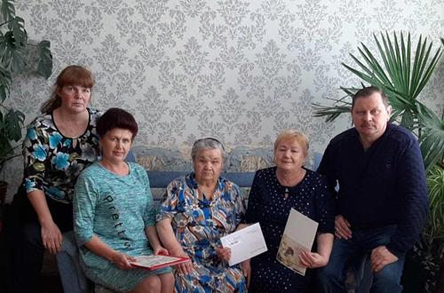 Жительницу Андреевки Зинаиду Михайловну Брыкало поздравили с 90-летием